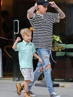 Justin & Jaxon Bieber
