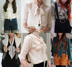 Blusas com gola laço Ideias Fashion, Ruffle Blouse, Business, Women, Wardrobe Basics, Block Prints, Business Illustration
