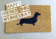 Home is where your wiener is! 🐶 What would your welcome mat say? Insta Followers, Welcome Mats, Dachshund, Real Estate, Instagram Posts, Happy, Dogs, Etsy, Home Decor