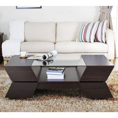Love this coffee table! Furniture of America Anjin Enzo Contemporary Two-tone Multi-storage Coffee Table - Overstock Shopping - Great Deals on Furniture of America Coffee, Sofa & End Tables Furniture, Coffee Table With Storage, Living Room Furniture, Home, Sofa Design, Sofa End Tables, Furniture Of America, Modern Coffee Tables, Coffee Table