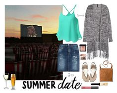 """Summer date"" by meeshtell on Polyvore featuring Bobbi Brown Cosmetics, Dsquared2, H&M, Libbey, Yves Saint Laurent, NARS Cosmetics, Bling Jewelry, Belk & Co., Luigi Bormioli and Merona"