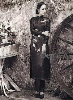 Linh Nga thả hồn trong các thiết kế áo dài của Trịnh Hoàng Diệu