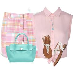 Madras Print Shorts by sherbear1974 on Polyvore featuring Tiffany & Co. and Wet Seal