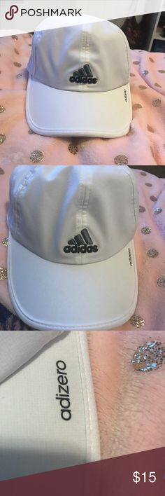 Adizero Adidas Hat White adizero hat from Adidas. Never been worn. Size S/M. Great condition! adidas Accessories Hats