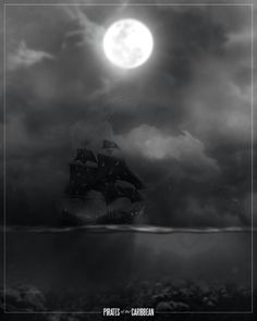 film noir style design of movie posters pirates of the carribean