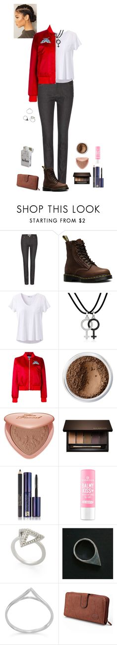 """""""James Dean jacket (Aoife)"""" by shulamithbond on Polyvore featuring Valentino, Dr. Martens, prAna, AENEA, Carven, Bare Escentuals, Too Faced Cosmetics, Clarins, Estée Lauder and BCBGMAXAZRIA"""