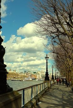 London, England — by iEva Daina. A walk on the South Bank is always exhilarating. Especially when the sun is out x