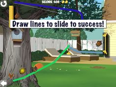 Draw the best route to help Shearl the Squirrel ride the line to get home with her gold acorns! Fun line rider game for all ages! Multiple levels and challenges. - http://fatredcouch.com/Charlie_and_Shearls_Acorn_Hero