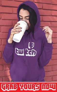 👉 Designed for TwitchAddict's 💜 ▪ Soft Cotton ▪ Printed in the USA ▪ Tracking Numbers Included Twitch Hoodie, Sporty Look, Hoodies, Sweatshirts, Types Of Sleeves, Overlay, Numbers, Printed, Usa