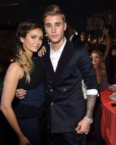 Justin Bieber and Nina Dobrev