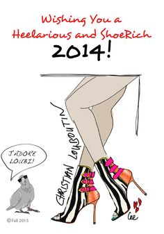 SHOE MOODS - wishing you a very Christian Louboutin 2014 !