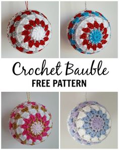 Dinki Dots Craft: Crochet Bauble - Free Pattern