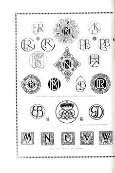 Typography - Monograms - Various - (4)