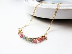 I feel a purchase coming on.... Aria bracelet  Spring Summer collection  - Tourmaline and gold fill bracelet