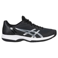 finest selection 10861 0f519 Asics Gel Court Speed Mens Tennis Shoe - Black Silver White