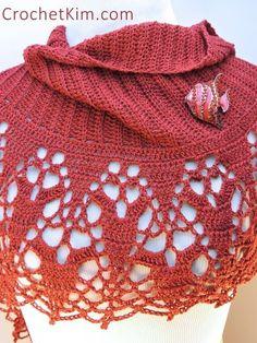 CrochetKim Free Crochet Pattern | Cinnamon Fling Wrap @crochetkim