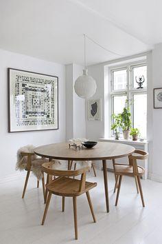 Resultado de imagen de mesa redonda comedor estilo nordico