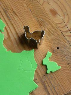 selbstgemachter Hasenstempel aus Moosgummi --- Meine grüne Wiese: Ostervorbereitungen (Teil 1)
