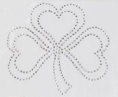 Strass cloverleaf - trifoglio cuori adrenalina strass on blomming.com #stpatrickday #irlanda #sanpatrizio