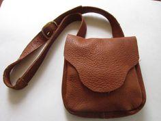 American Bison  Leather Sling Bag Purse Man bag Unisex Handcrafted