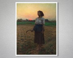 Jules Breton, Caspar David Friedrich, Cargo Services, Fine Art Prints, Canvas Prints, Fashion Wall Art, Rest Of The World, Original Image, Cotton Canvas