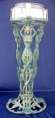 Art Nouveau Statuette Mermaid Aquarium