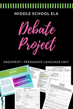 This is JUST THE RIGHT PROJECT for a creative, technology-based assessment that covers all major parts of argumentative & persuasive writing in the middle school English Language Arts classroom!