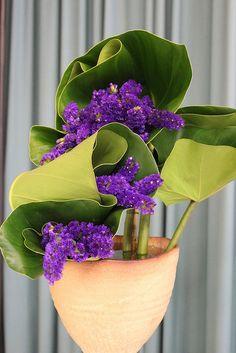 Ikebana arrangement, Sogetsu school by Tanetahi,
