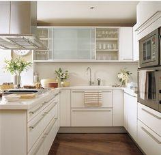 Kitchen in white palette