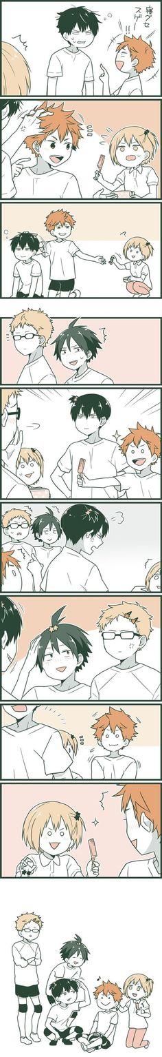 This is too cute I can't … Hinata, Kageyama, Yachi, Tsukishima, Yamaguchi Kagehina, Kageyama X Hinata, Haikyuu Karasuno, Haikyuu Funny, Haikyuu Ships, Haikyuu Fanart, Film Anime, Manga Anime, Tsukkiyama