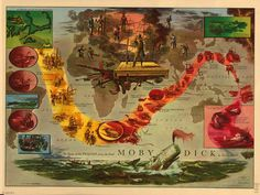 Literary Maps: Moby Dick. (Also check out this site for more literature-inspired maps.)