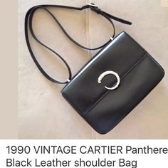 ❗️MAKE OFFER TODAY ❗️Rare Cartier Panthere purse ❗️❗️Rare Cartier Panthere Collection black leather purse.  Used but in good condition❗️❗️ Cartier Bags Shoulder Bags