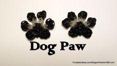 Rainbow Loom Dog/Cat/Pet Paw Print charm - How to Video