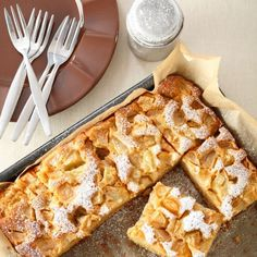 Tarte normande facile Quiche, Home Bakery, Apple Pear, French Food, Beignets, Flan, Tasty Dishes, Bon Appetit, Waffles