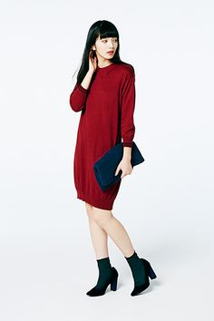 Japan Fashion, Red Fashion, Komatsu Nana, Girls Wear, Style Me, Street Wear, High Neck Dress, Girly, Street Style
