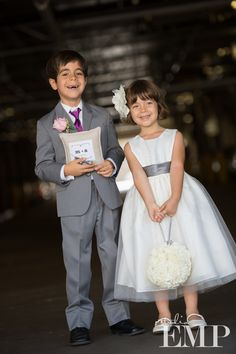 Simply adorable matching ring bearer and flower girl | @Studio EMP Photography