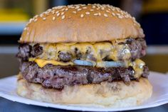 Bleecker Victoria is open until so you CAN get this double cheeseburger. Eat in. National Burger Day, Hand Cut Fries, Voucher, Burger Restaurant, Fat Foods, London Food, Good Burger, London Restaurants, Meal Deal