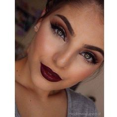 Love the burgundy lips!!!