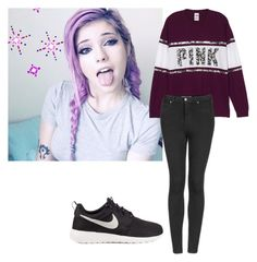 """""""Intro"""" by froyolover002 ❤ liked on Polyvore featuring Topshop and NIKE"""
