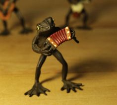 Cold Painted Bronze Austrian Vienna Figurines Frog Band 4 Pieces   eBay