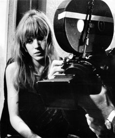 Marianne Faithfull on the set of The Girl on a Motorcycle (1968)