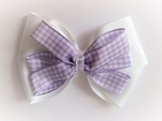 Stacked double bow with triple bow Barrette Clip, Bows, Gifts, Ticks, Arches, Presents, Bowties, Favors, Bow