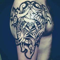 Impressive Norse Tattoo Male Arms