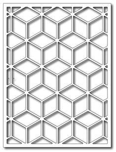 Frantic Stamper - Precision Dies - Tumbling Blocks Card Panel