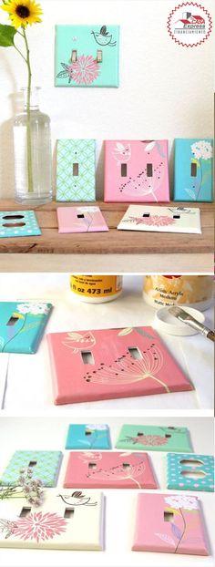 Una divertida idea para decorar los apagadores en habitaciones para niños. #Ideas #DIY #TipsExpress