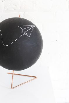 HOME | Copper Chalkboard Globe | I SPY DIY