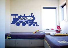 FREE SHIPPING Personaized Train boys by NoticeSignandDesign, $40.00