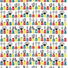 almedahls(アルメダール)/ファブリックパネル/persons-kryddskap(各色)/450×1350×30mm【北欧雑貨】 - 北欧生地 ファブリックパネル 北欧インテリア雑貨通販専門店【Puolukka(プオルッカ)】