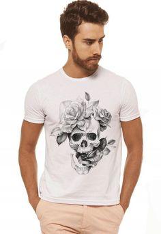 8cbdc28e63 19 melhores imagens de Camiseta Caveira e Barba