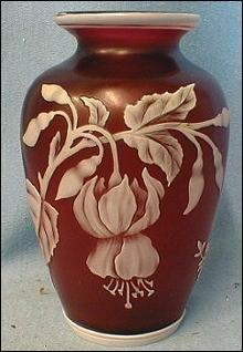 Thomas Webb Cameo Glass Vase - English Art Glass